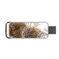Digitally Painted Colourful Winter Branches Illustration Portable Usb Flash (two Sides)
