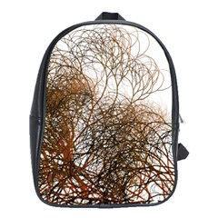 Digitally Painted Colourful Winter Branches Illustration School Bags (xl)  by Nexatart
