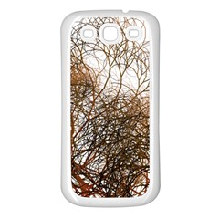 Digitally Painted Colourful Winter Branches Illustration Samsung Galaxy S3 Back Case (White)
