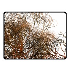 Digitally Painted Colourful Winter Branches Illustration Double Sided Fleece Blanket (small)