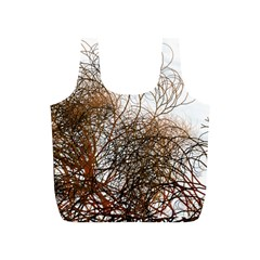 Digitally Painted Colourful Winter Branches Illustration Full Print Recycle Bags (s)