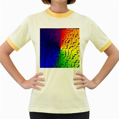 A Creative Colorful Background Women s Fitted Ringer T-Shirts by Nexatart