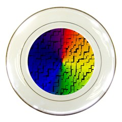 A Creative Colorful Background Porcelain Plates by Nexatart