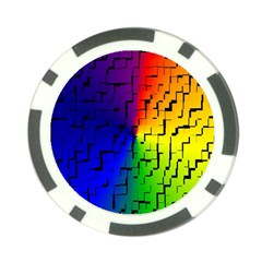 A Creative Colorful Background Poker Chip Card Guard