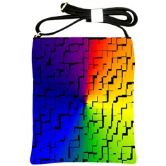 A Creative Colorful Background Shoulder Sling Bags by Nexatart