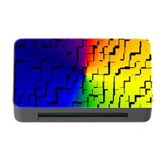 A Creative Colorful Background Memory Card Reader With Cf