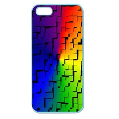 A Creative Colorful Background Apple Seamless Iphone 5 Case (color)
