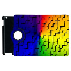 A Creative Colorful Background Apple Ipad 2 Flip 360 Case