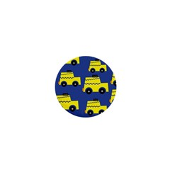 A Fun Cartoon Taxi Cab Tiling Pattern 1  Mini Magnets by Nexatart