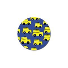 A Fun Cartoon Taxi Cab Tiling Pattern Golf Ball Marker (10 Pack) by Nexatart