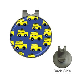 A Fun Cartoon Taxi Cab Tiling Pattern Hat Clips With Golf Markers