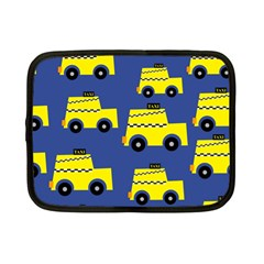 A Fun Cartoon Taxi Cab Tiling Pattern Netbook Case (small)  by Nexatart