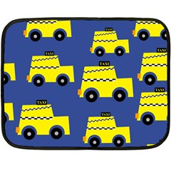 A Fun Cartoon Taxi Cab Tiling Pattern Fleece Blanket (mini) by Nexatart