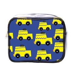 A Fun Cartoon Taxi Cab Tiling Pattern Mini Toiletries Bags by Nexatart