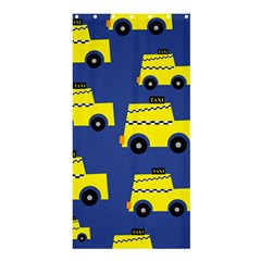 A Fun Cartoon Taxi Cab Tiling Pattern Shower Curtain 36  X 72  (stall)