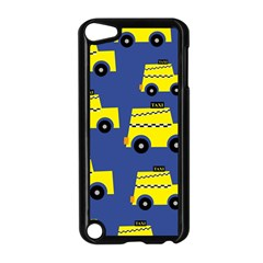 A Fun Cartoon Taxi Cab Tiling Pattern Apple Ipod Touch 5 Case (black) by Nexatart