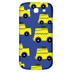 A Fun Cartoon Taxi Cab Tiling Pattern Samsung Galaxy S3 S Iii Classic Hardshell Back Case by Nexatart
