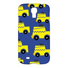 A Fun Cartoon Taxi Cab Tiling Pattern Samsung Galaxy S4 I9500/i9505 Hardshell Case by Nexatart