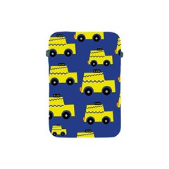 A Fun Cartoon Taxi Cab Tiling Pattern Apple Ipad Mini Protective Soft Cases by Nexatart