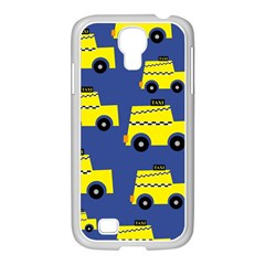 A Fun Cartoon Taxi Cab Tiling Pattern Samsung Galaxy S4 I9500/ I9505 Case (white)