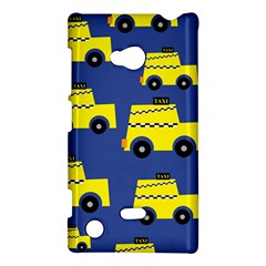 A Fun Cartoon Taxi Cab Tiling Pattern Nokia Lumia 720 by Nexatart
