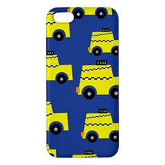 A Fun Cartoon Taxi Cab Tiling Pattern Iphone 5s/ Se Premium Hardshell Case