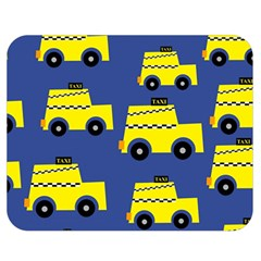 A Fun Cartoon Taxi Cab Tiling Pattern Double Sided Flano Blanket (medium)  by Nexatart
