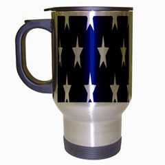 Starry Header Travel Mug (silver Gray) by Nexatart