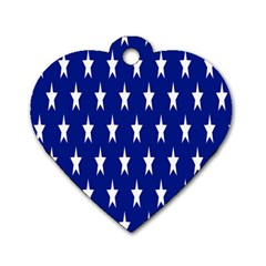 Starry Header Dog Tag Heart (one Side)