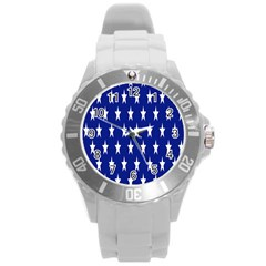 Starry Header Round Plastic Sport Watch (l) by Nexatart