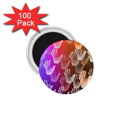 Clipart Hands Background Pattern 1 75  Magnets (100 Pack)  by Nexatart