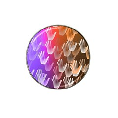 Clipart Hands Background Pattern Hat Clip Ball Marker (10 Pack)