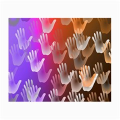 Clipart Hands Background Pattern Small Glasses Cloth