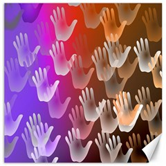 Clipart Hands Background Pattern Canvas 16  X 16   by Nexatart