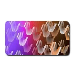 Clipart Hands Background Pattern Medium Bar Mats