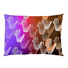 Clipart Hands Background Pattern Pillow Case (two Sides)