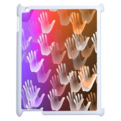 Clipart Hands Background Pattern Apple Ipad 2 Case (white) by Nexatart