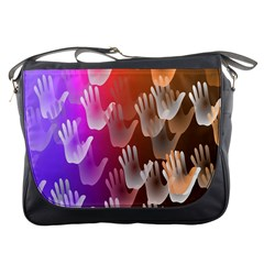 Clipart Hands Background Pattern Messenger Bags