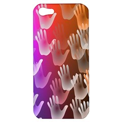 Clipart Hands Background Pattern Apple Iphone 5 Hardshell Case