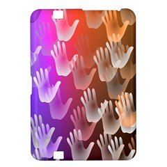 Clipart Hands Background Pattern Kindle Fire Hd 8 9  by Nexatart