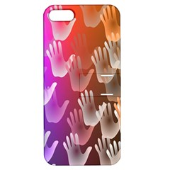 Clipart Hands Background Pattern Apple Iphone 5 Hardshell Case With Stand by Nexatart