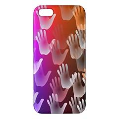 Clipart Hands Background Pattern Apple Iphone 5 Premium Hardshell Case by Nexatart