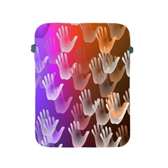 Clipart Hands Background Pattern Apple Ipad 2/3/4 Protective Soft Cases by Nexatart