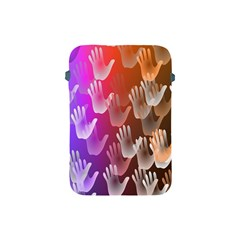 Clipart Hands Background Pattern Apple Ipad Mini Protective Soft Cases