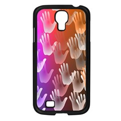 Clipart Hands Background Pattern Samsung Galaxy S4 I9500/ I9505 Case (black)