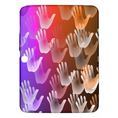 Clipart Hands Background Pattern Samsung Galaxy Tab 3 (10 1 ) P5200 Hardshell Case  by Nexatart