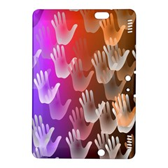 Clipart Hands Background Pattern Kindle Fire Hdx 8 9  Hardshell Case by Nexatart