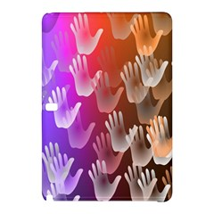 Clipart Hands Background Pattern Samsung Galaxy Tab Pro 12 2 Hardshell Case by Nexatart
