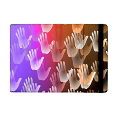 Clipart Hands Background Pattern Ipad Mini 2 Flip Cases