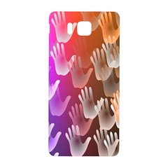 Clipart Hands Background Pattern Samsung Galaxy Alpha Hardshell Back Case by Nexatart